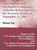 Cover of: Joint Inquiry into Intelligence Community Activities Before and After the Terrorist Attacks of September 11, 2001 | Committee on Intelligence U S. Senate