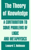 Cover of: The Theory Of Knowledge