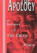 Cover of: The apology of Socrates, &, The Crito