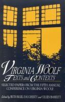 Cover of: Virginia Woolf