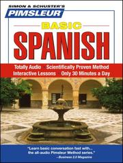 Cover of: Basic Spanish | Pimsleur