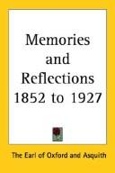 Cover of: Memories And Reflections 1852 to 1927
