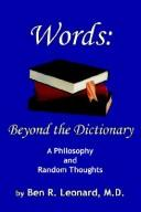 Cover of: Words: Beyond the Dictionary