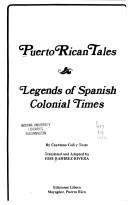 Cover of: Puerto Rican Tales | Cayetano Coll Y Toste