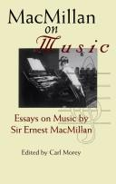 Cover of: MacMillan on Music