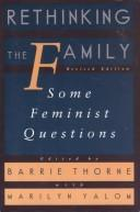 Cover of: Rethinking the Family