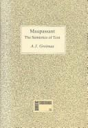 Cover of: Maupassant: The Semiotics of Text