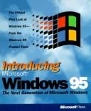 Cover of: Introducing Microsoft Windows 95