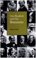 Cover of: One Hundred and One Botanists