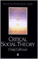 Cover of: Critical Social Theory | Craig J. Calhoun