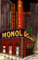 Cover of: Classic American monologues |
