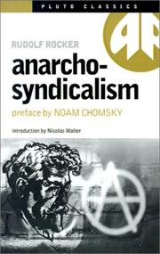 Cover of: Anarcho-Syndicalism (Pluto Classics)