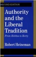 Cover of: Authority and the Liberal Tradition