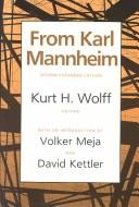 Cover of: From Karl Mannheim