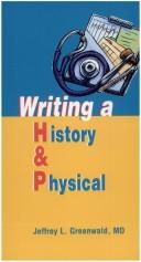 Cover of: Writing a History and Physical