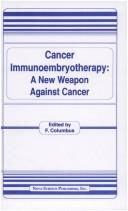 Cover of: Cancer Immunoembryotherapy | F. Columbus