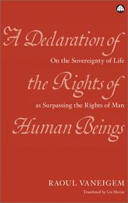 Cover of: A Declaration Of The Rights Of Human Beings