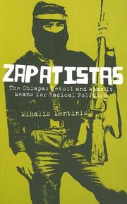 Cover of: Zapatistas | Mihalis Mentinis