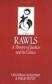 "Cover of: John Rawls' ""Theory of Justice"" and Its Critics"