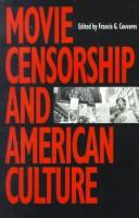 Cover of: MOVIE CENSORSHIP | Francis G. Couvares