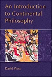Cover of: An introduction to continental philosophy
