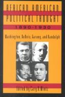 Cover of: African American Political Thought 1890-1930