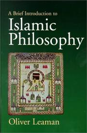 Cover of: A Brief Introduction to Islamic Philosophy | Oliver Leaman