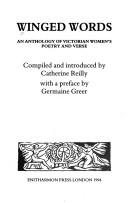 Cover of: Winged Words: An Anthology of Victorian Women's Poetry and Verse