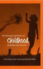 Cover of: The Changing Experience of Childhood | Carol Smart