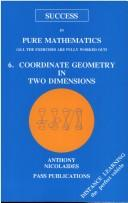 Cover of: Coordinate Geometry | Anthony Nicolaides