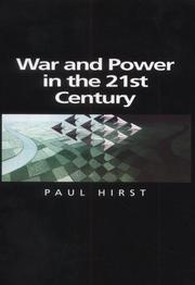 Cover of: War and Power in the 21st Century