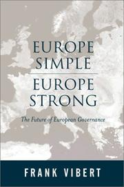 Cover of: Europe Simple, Europe Strong