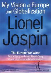 Cover of: My vision of Europe and globalization