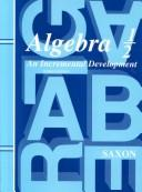 Cover of: Algebra 1/2