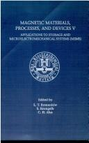 Cover of: Proceedings of the Fifth International Sympposium on Magnetic Materials, Processes, and Devices