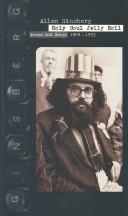 Cover of: Allen Ginsberg : Holy Soul Jelly Roll: Poems and Songs 1949-1993