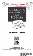Cover of: Quicken Five for Windows for Dummies Quick Reference