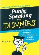Cover of: Public Speaking for Dummies | Malcolm Kushner