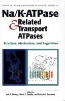 Cover of: Na/K-ATPase and related transport ATPases |