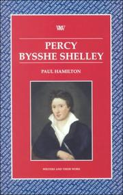 Cover of: Percy Bysshe Shelley | Paul Hamilton