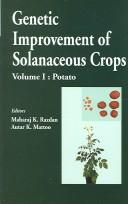 Cover of: Genetic Improvement of Solanaceous Crops |