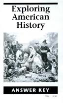 Cover of: Exploring American History Answer Key
