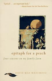 Cover of: Epitaph for a Peach | David M. Masumoto
