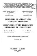 Cover of: Computers in literary and linguistic computing | Association for Literary and Linguistic Computing. International Conference