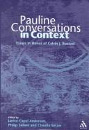 Cover of: Pauline Conversations in Context |