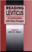 Cover of: Reading Leviticus | John F. A. Sawyer