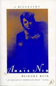 Cover of: Anais Nin a Biography