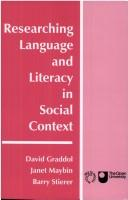 Cover of: Researching language and literacy in social context