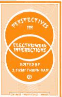 Cover of: Perspectives of electroweak interactions | Rencontre de Moriond (20th 1985 Les Arcs (Savoie, France))