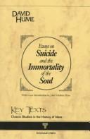 Cover of: ESSAYS ON SUICIDE AND THE IMMORTALITY OF THE SOUL.
